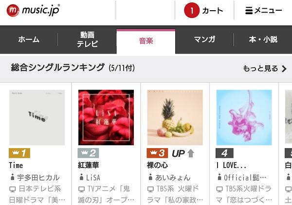 music.jpのトップページ